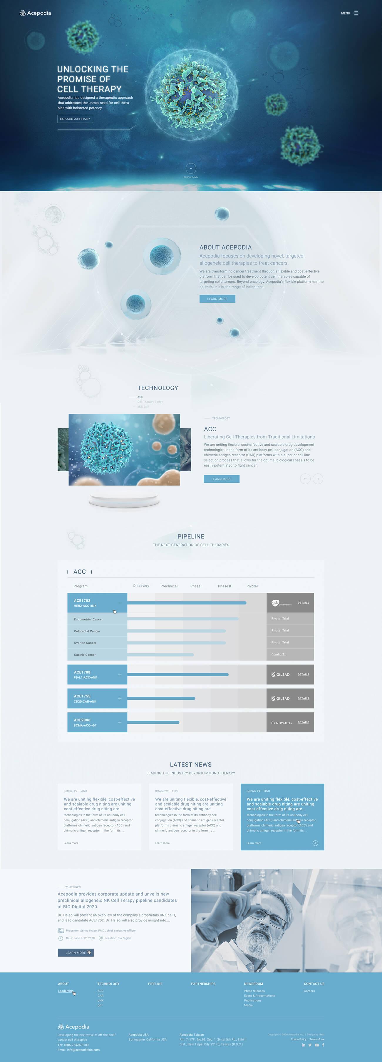 育世博生物科技-網頁設計