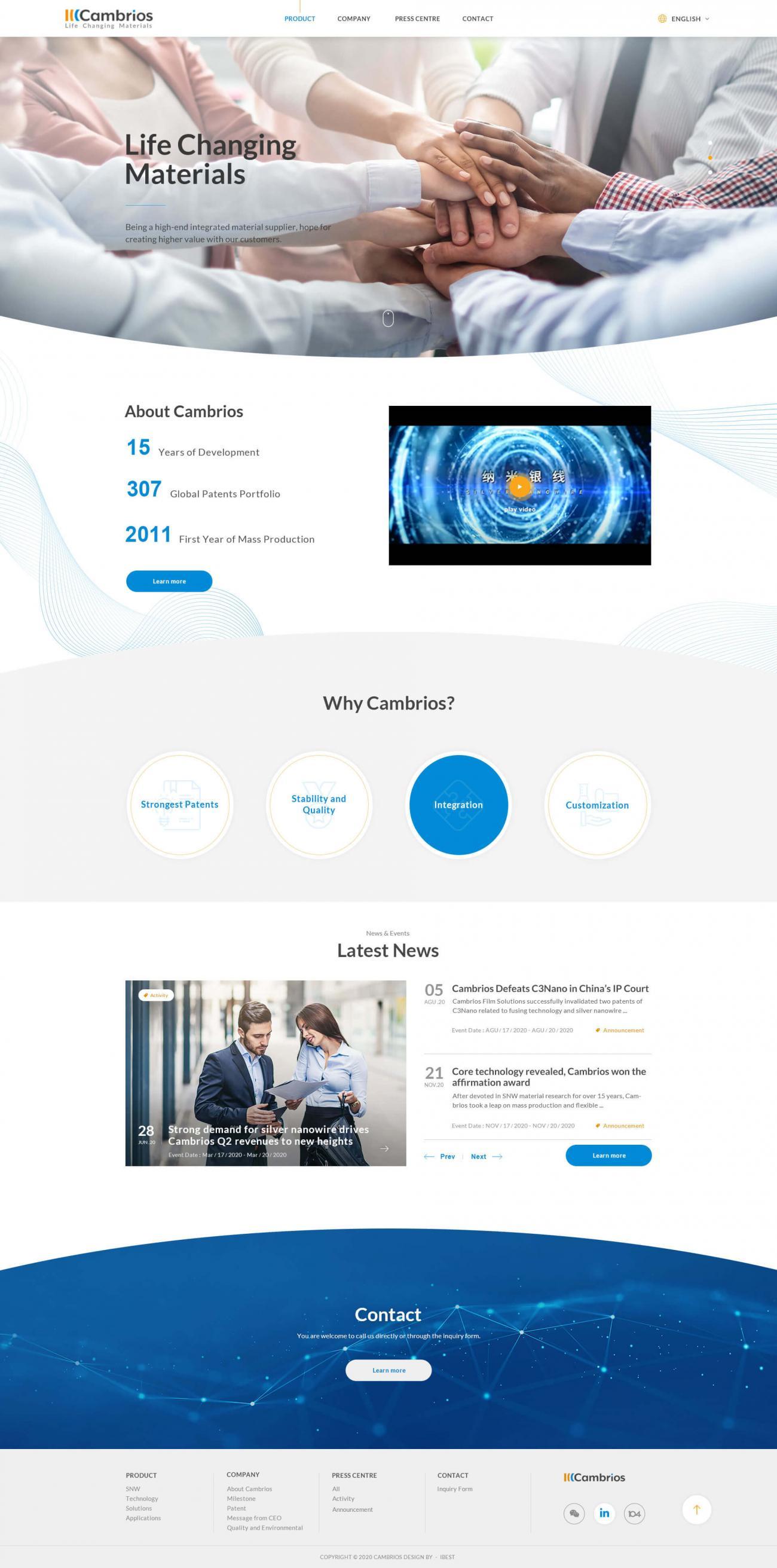 天材創新材料科技-網頁設計