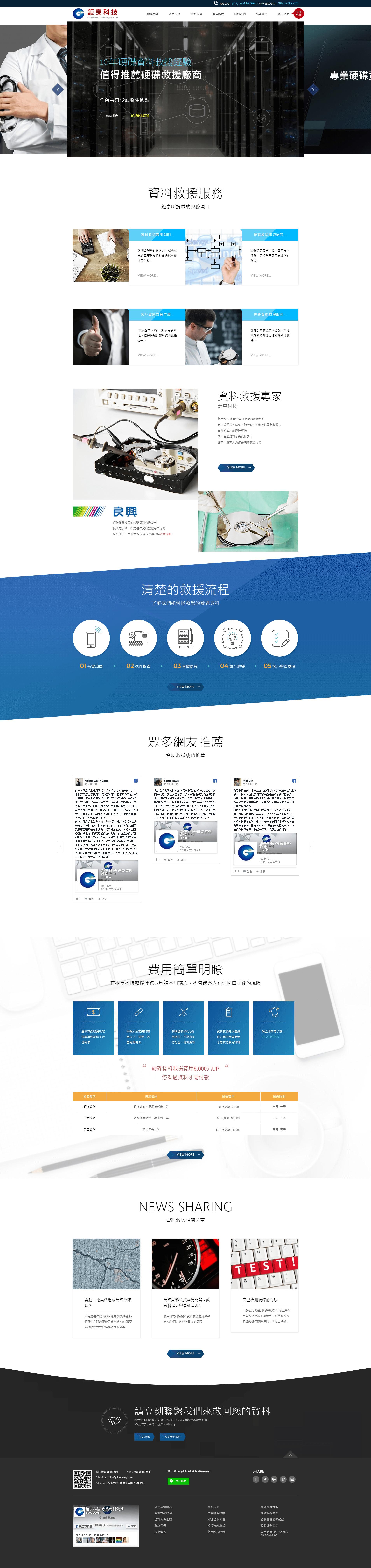 鉅亨科技-網頁設計