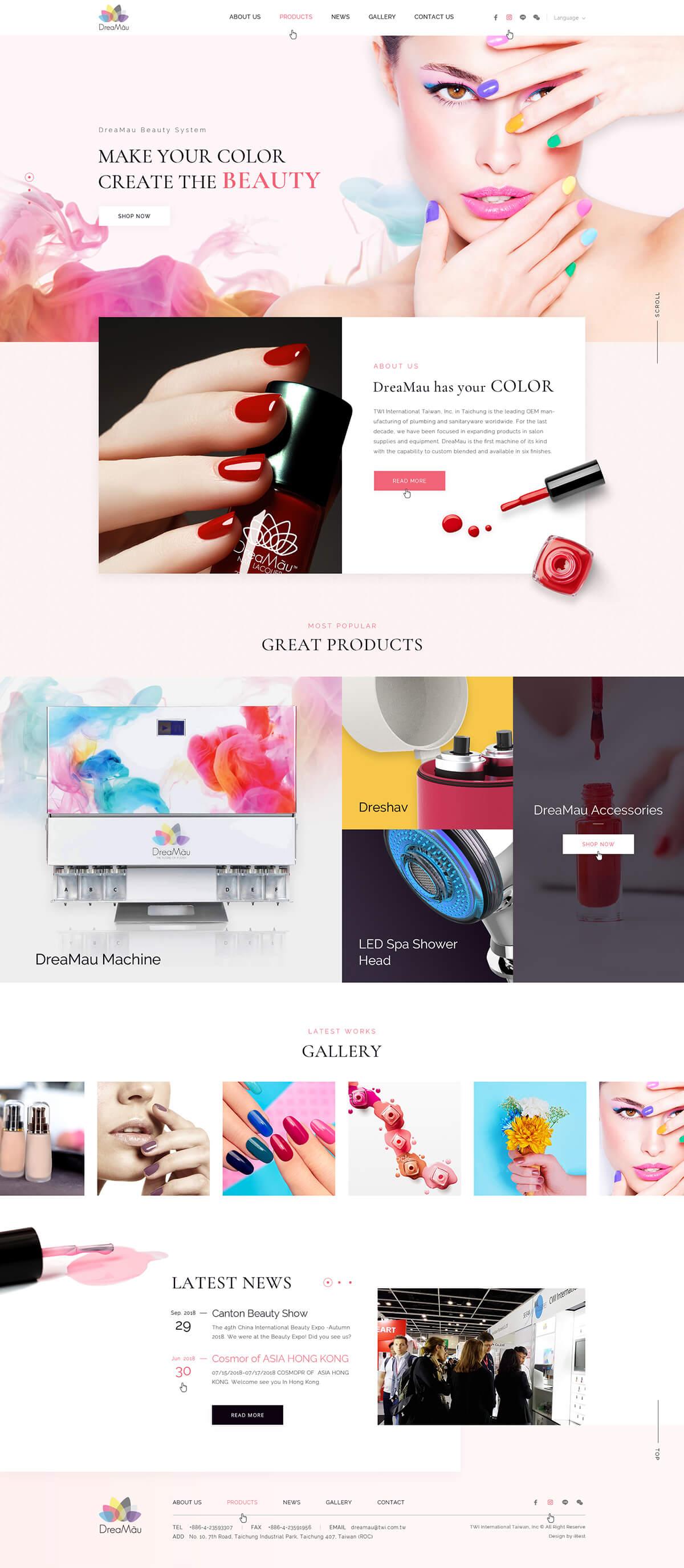 DreaMau-網頁設計